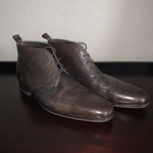 Hugo Boss Leather Wingtip Boots